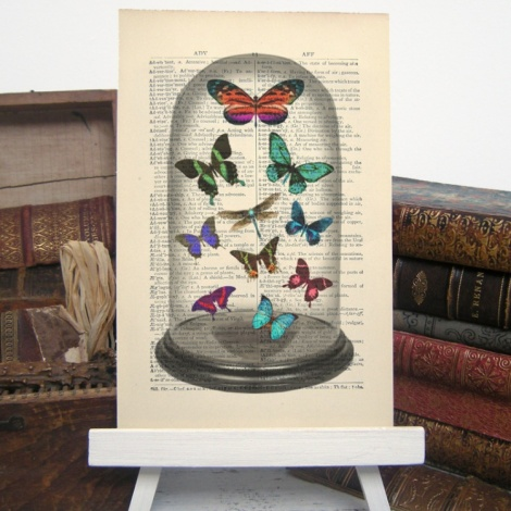 Victorian Dome and Butterflies Print