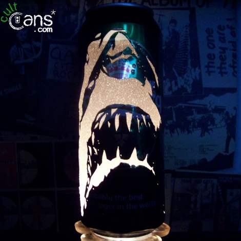 Jaws Beer Can Lantern