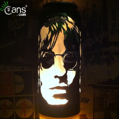 Liam Gallagher Beer Can Lantern