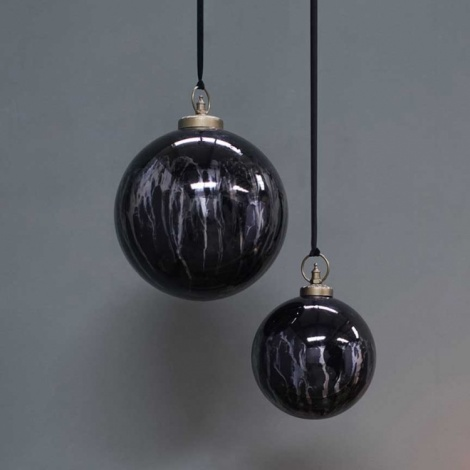 Danoa Giant Bauble Smoke & Black