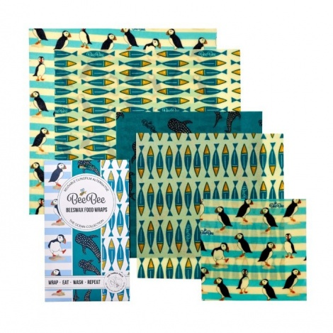 BeeBee Wraps Large Oceans Family Pack