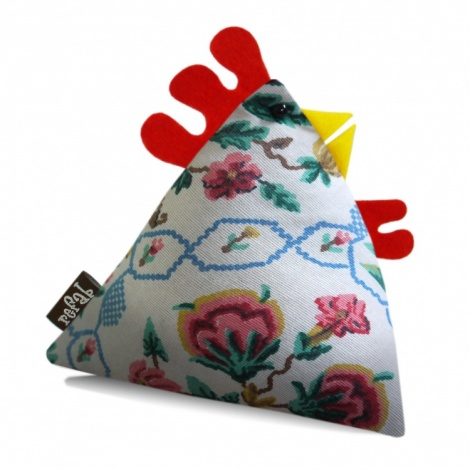 Greta Vintage Fabric Chicken Doorstop