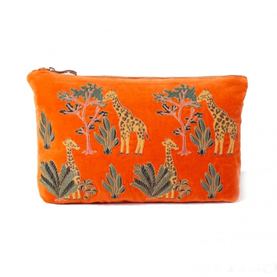 Giraffe Orange Everyday Pouch
