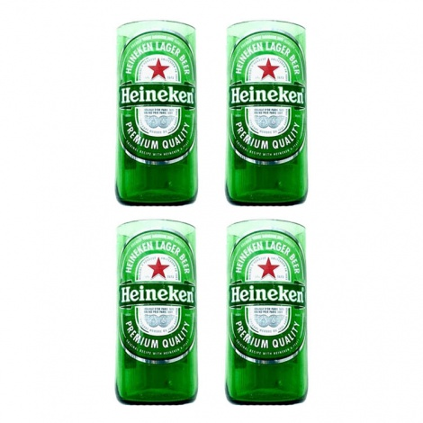 Heineken Beer Bottle Glasses