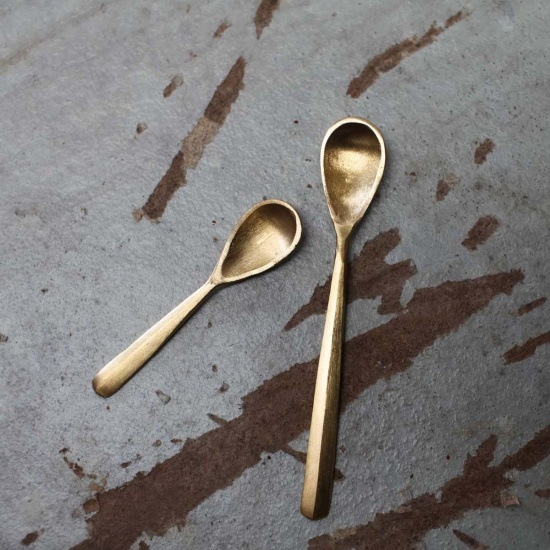 Jahi Gold Flat Spoon by Nkuku