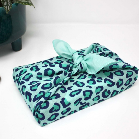 Leopard Mint Fabric Wrap