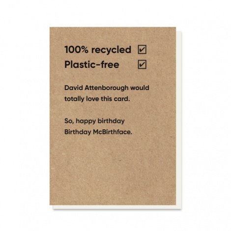 Birthday McBirthface Rubbish Card
