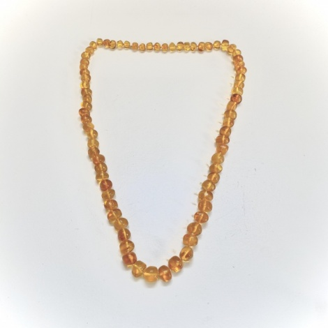 Natural Amber Bead Necklace (Honey)