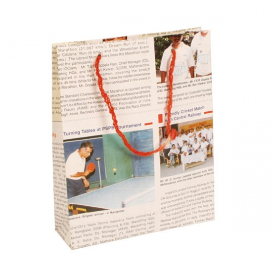 Recycled Newspaper Giftbag
