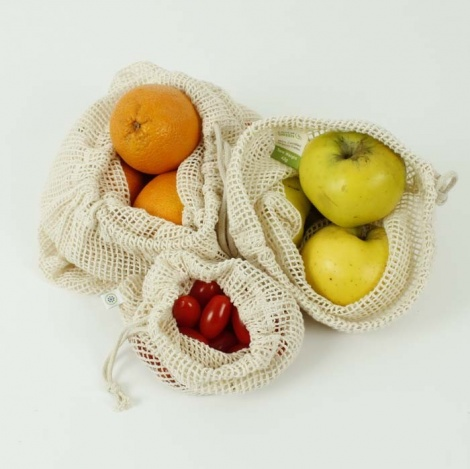 Mesh Vegetable Bags - Set of 3