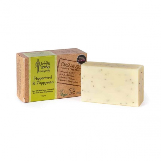 Organic Peppermint & Poppyseed Soap