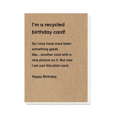 Recycled Rubbish Card