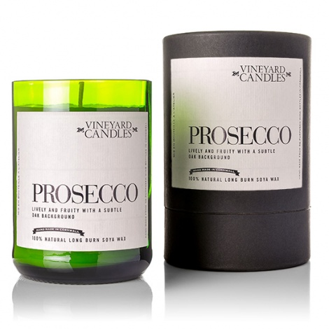 Prosecco Wine Bottle Candle