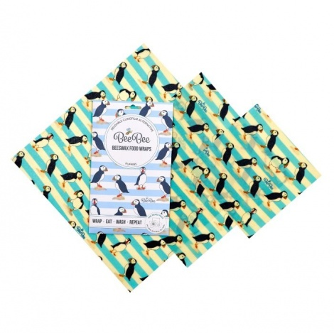 Puffin Beeswax Food Wrap Pack