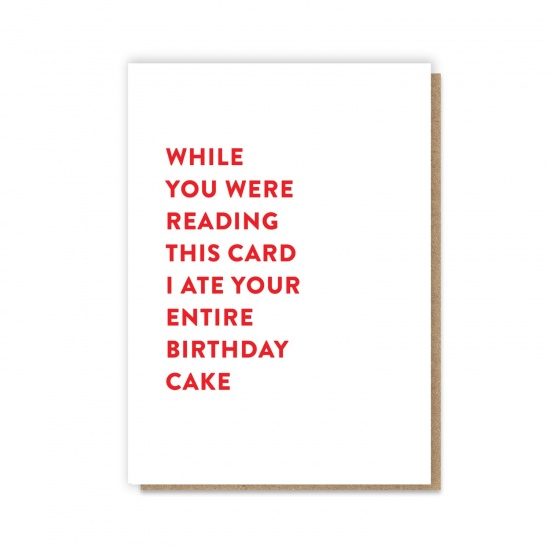 Entire Birthday Cake Card