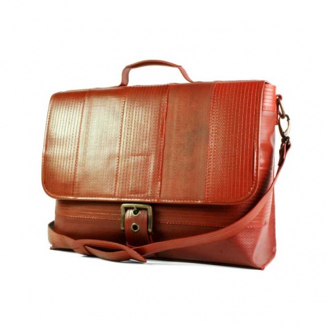 Recycled Firehose Satchel