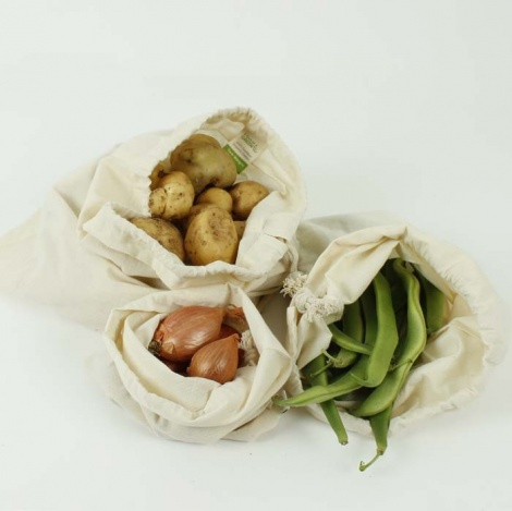 Organic Cotton Produce Bag Variety Pack - Set of 3