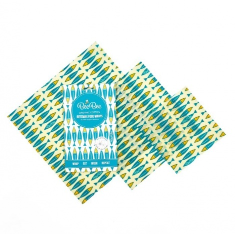 Sardines Beeswax Food Wrap Pack
