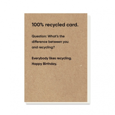 You & Recycling Rubbish Card