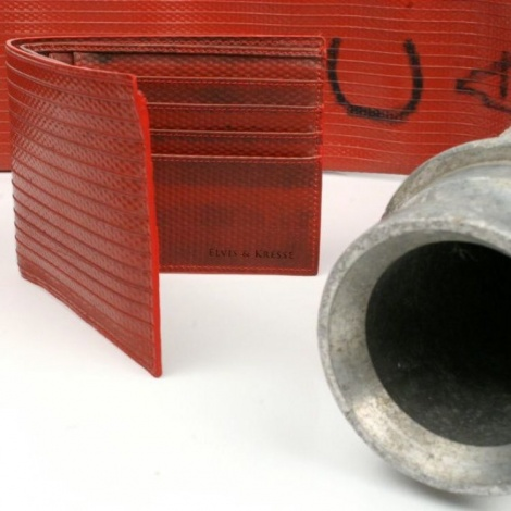 Elvis & Kresse Red Firehose Wallet