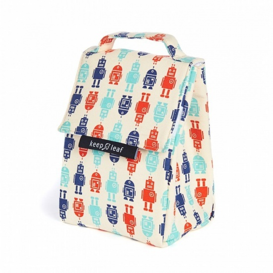 Insulated Sandwich Bag with Robot Print