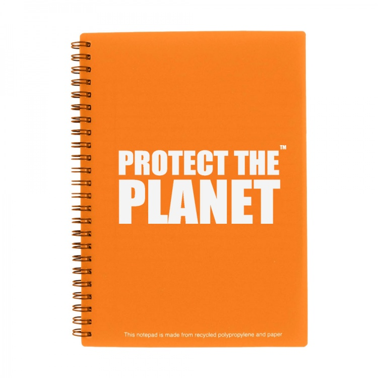 A5 Orange Recycled Packaging Notepad