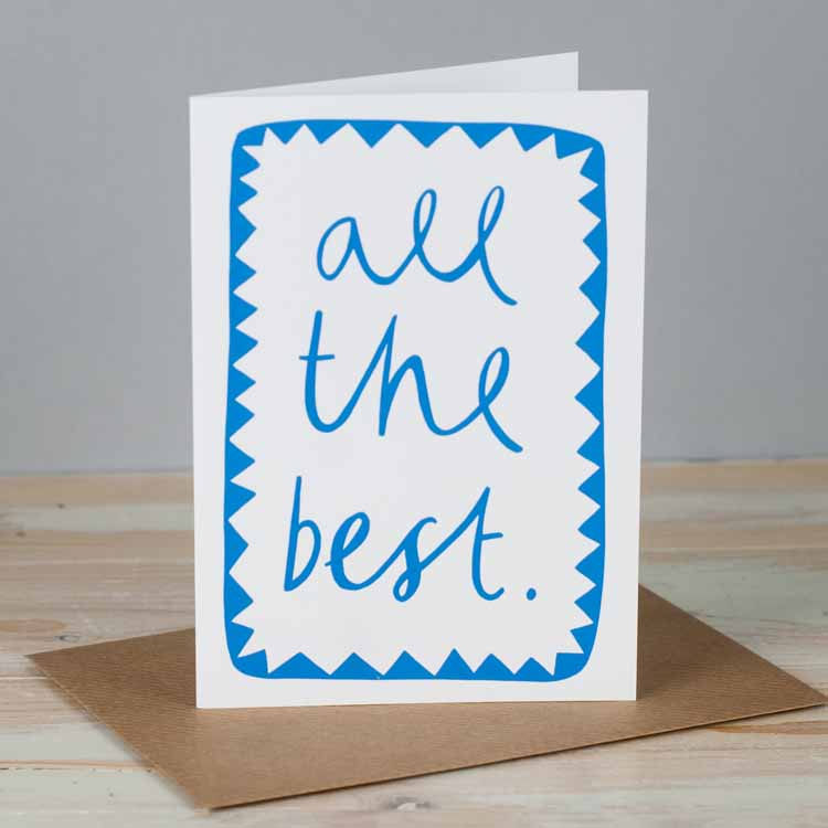 All The Best Leaving Card
