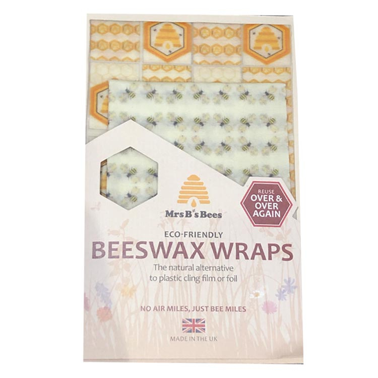 Honeybee & Beehive Beeswax Wrap Twin Pack