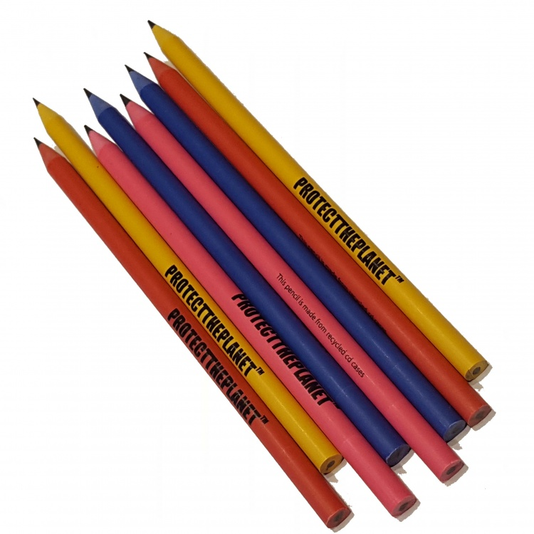 Recycled CD Case Pencils