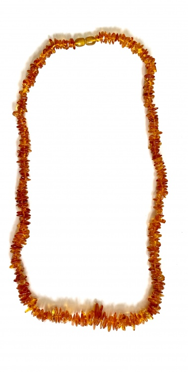 Extra Thick Chip Amber Necklace