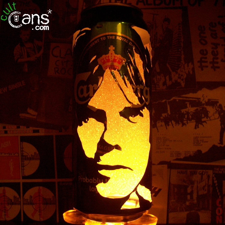 Joey Tempest Beer Can Lantern