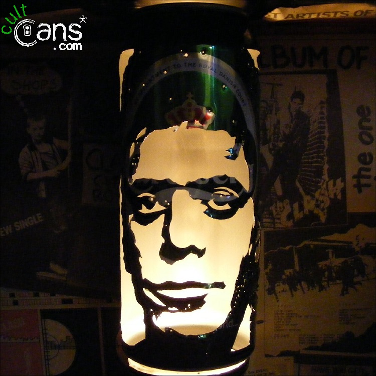 Lou Reed Beer Can Lantern