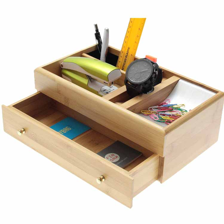 Bamboo Desk Top Tidy