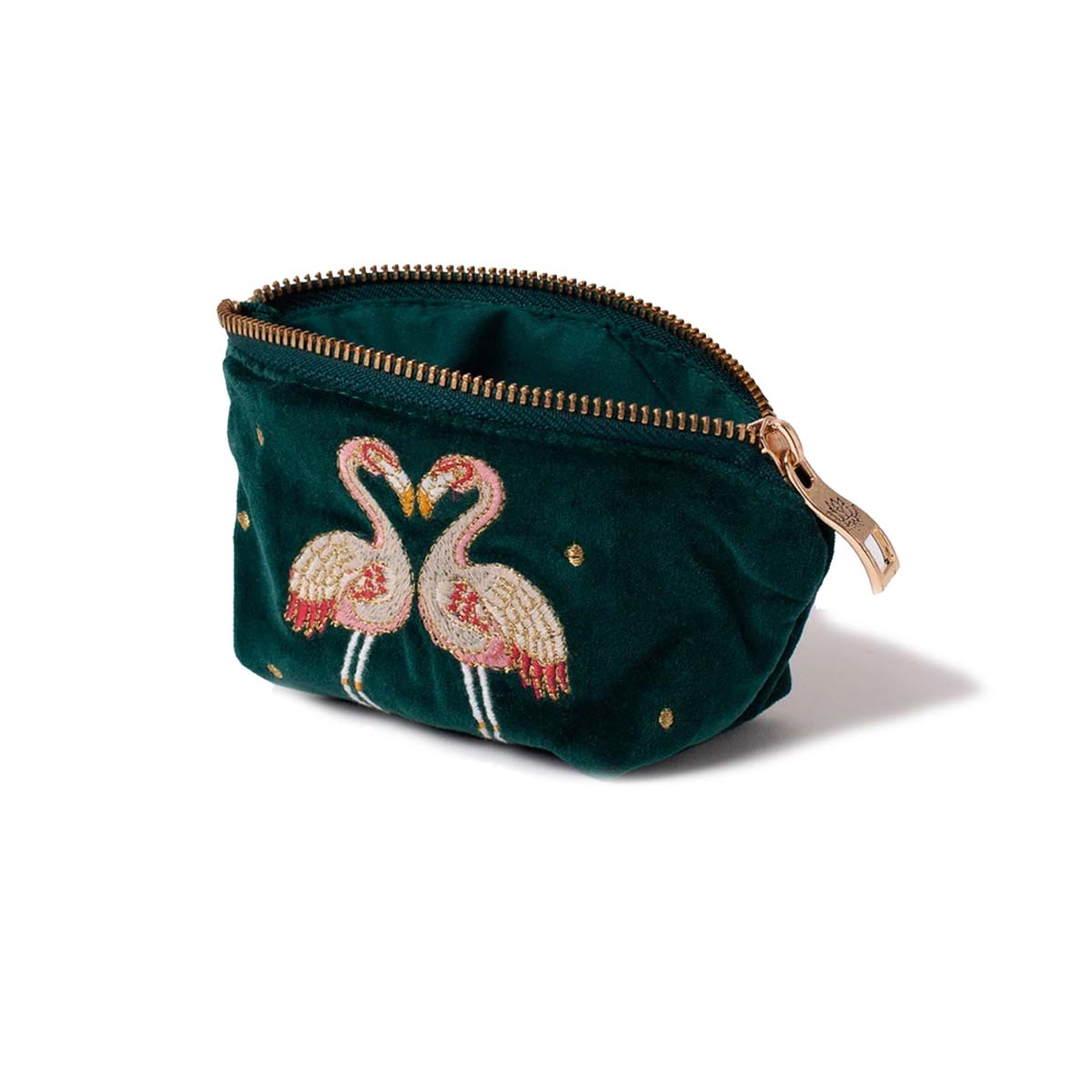 Flamingo Velvet Coin Purse