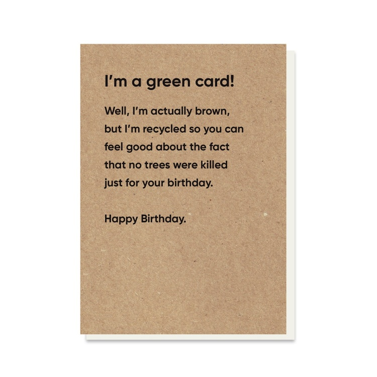 Green Eco Rubbish Card