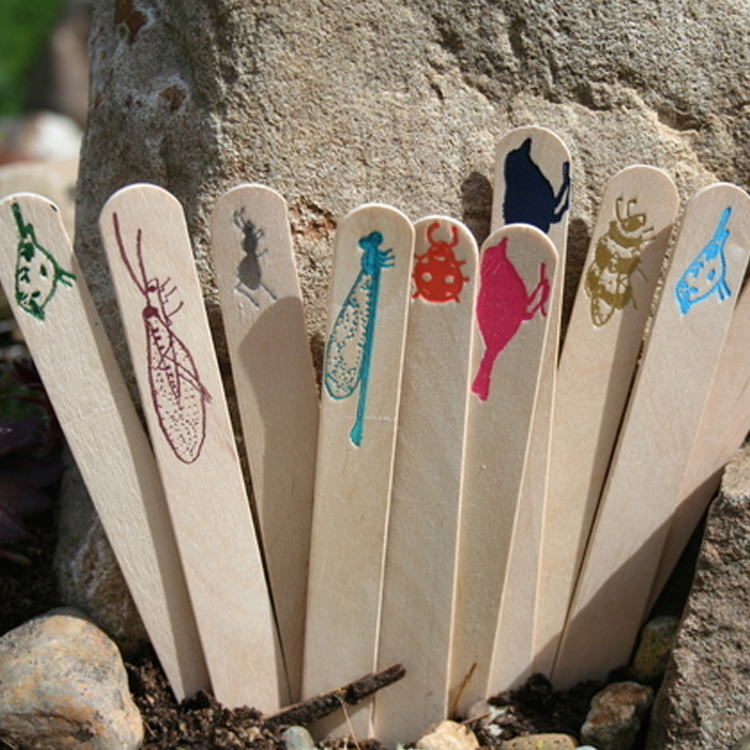Handprinted Wooden Markers