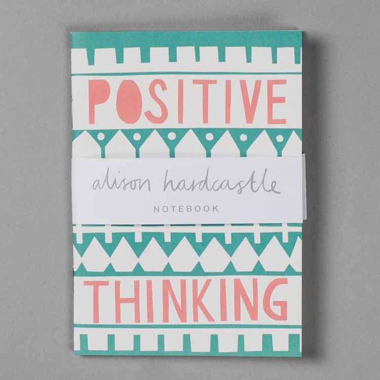 Positive Thinking Recycled Notebook