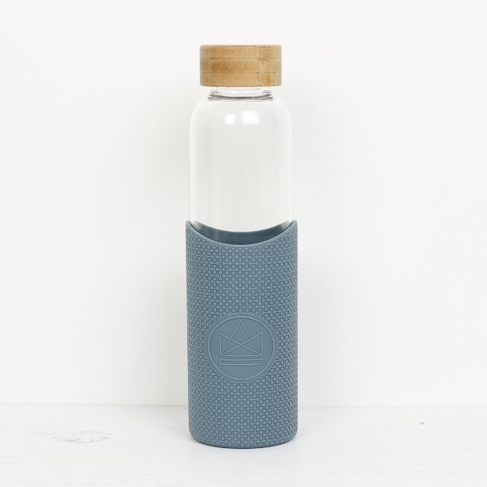 Glass Reusable Drinks Bottle (Blue)