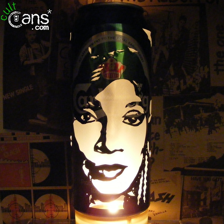 Shirley Bassey Beer Can Lantern