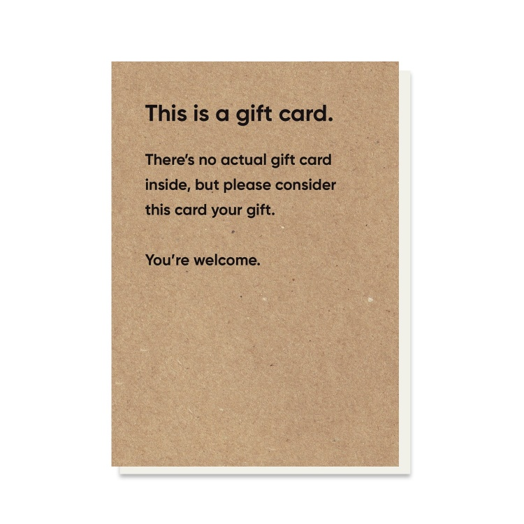 Not A Gift Rubbish Card