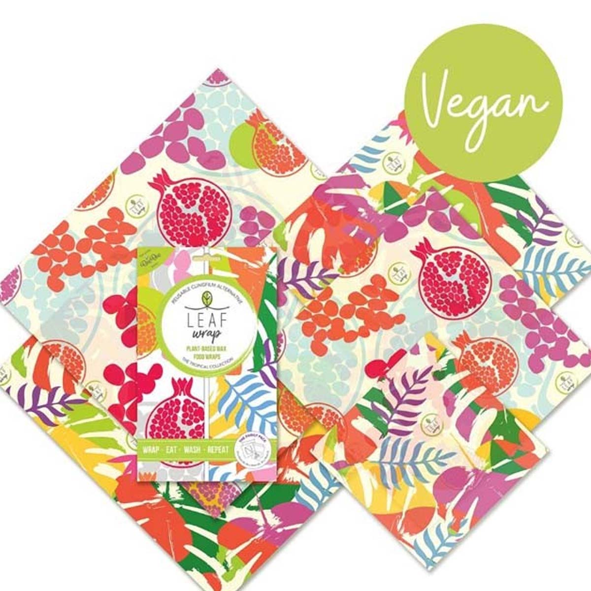 Vegan Tropical Food Wrap Family Pack