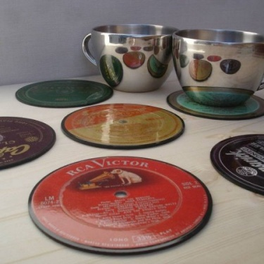 Recycled Vinyl Record Coasters