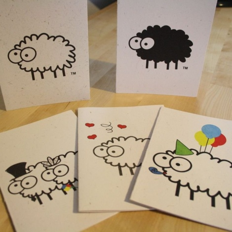 Sheep Poo Paper Card
